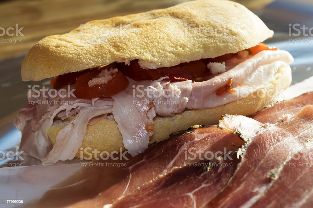 fast sandwich for brunch stock photo