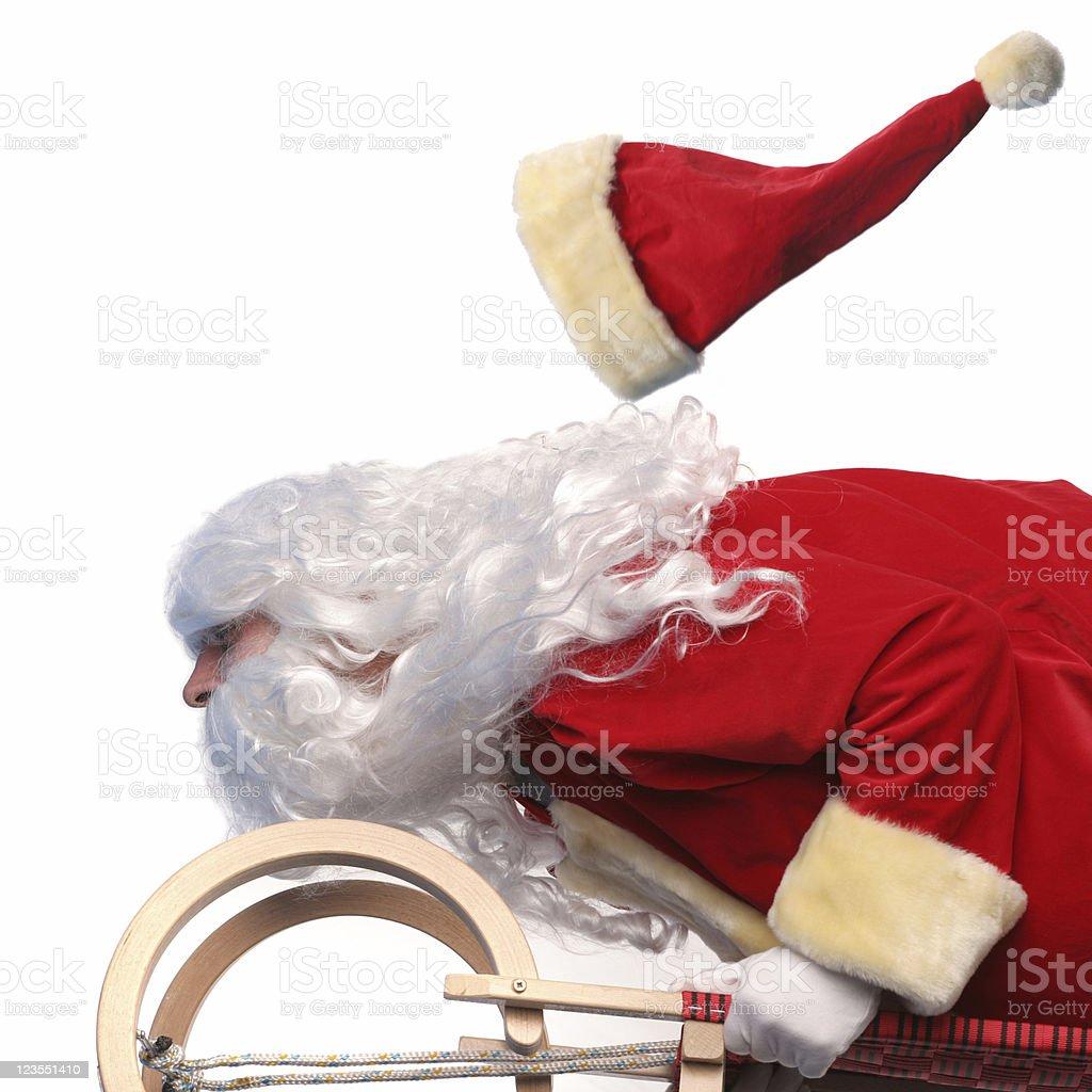 Fast Santa Claus royalty-free stock photo