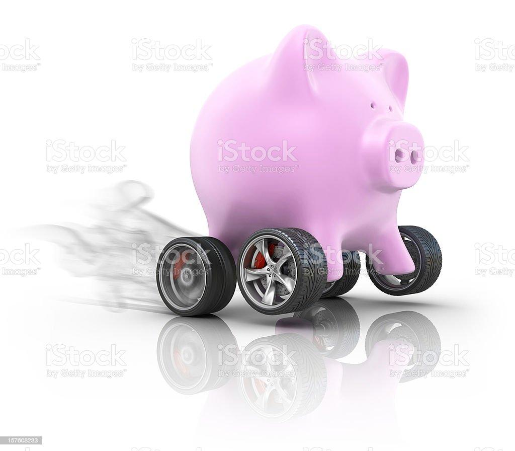 fast savings royalty-free stock photo