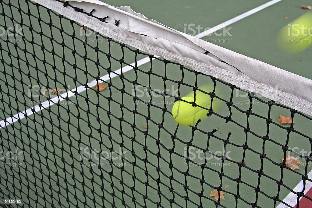 Fast Serve Caught in the Net royalty-free stock photo