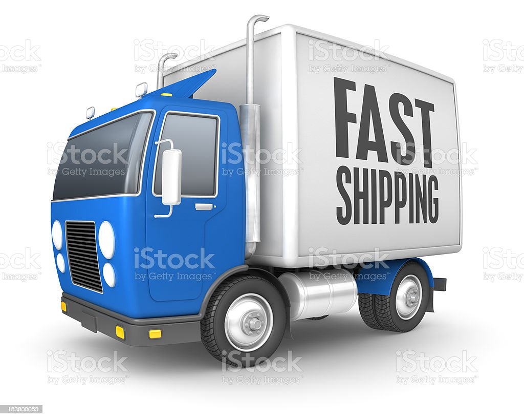 Fast shipping royalty-free stock photo