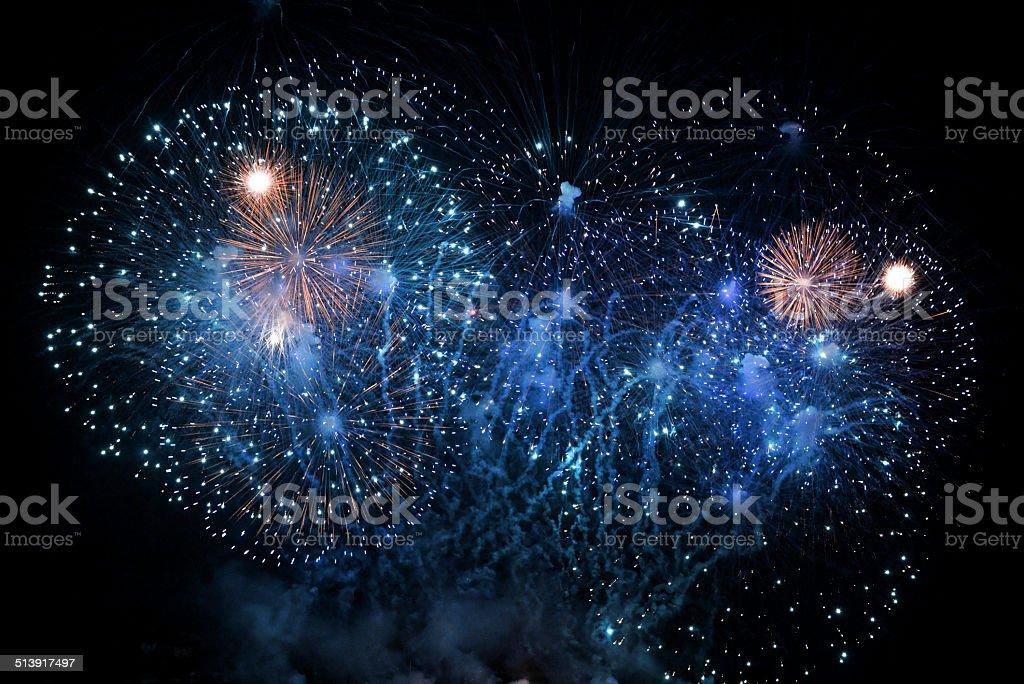 Fast shutter fireworks stock photo