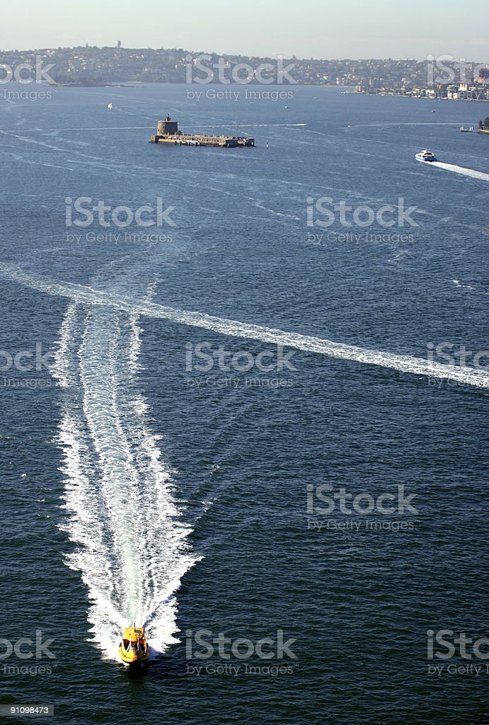 Fast speed boat royalty-free stock photo