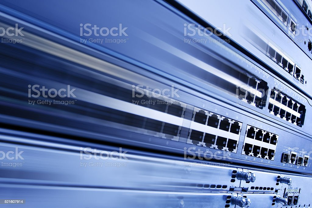 Fast Speed Internet, Information Technology Computer Network, Telecom Background stock photo
