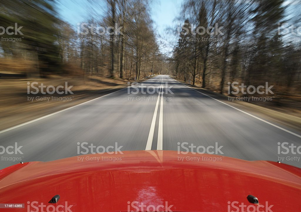 Fast speeding car stock photo