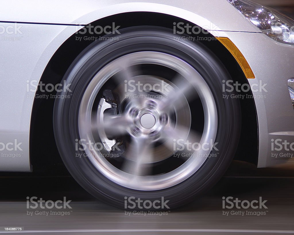 Fast Spinning Wheel royalty-free stock photo