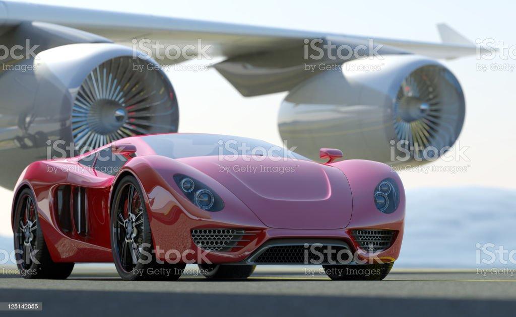 Fast Sports Car stock photo