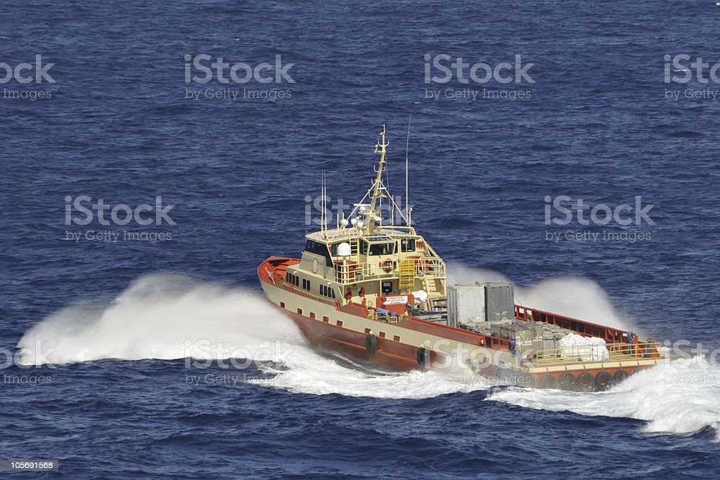 Fast Supply and Crew Vessel stock photo