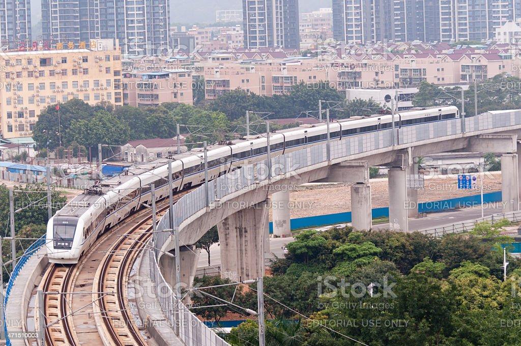 fast train in China stock photo