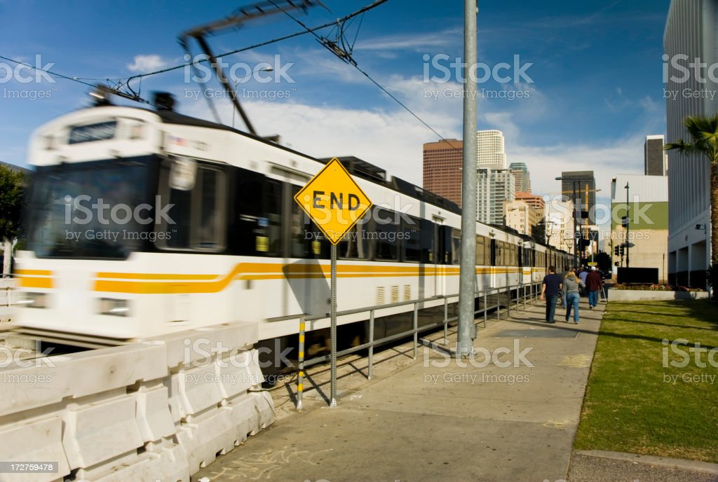 Fast train stock photo