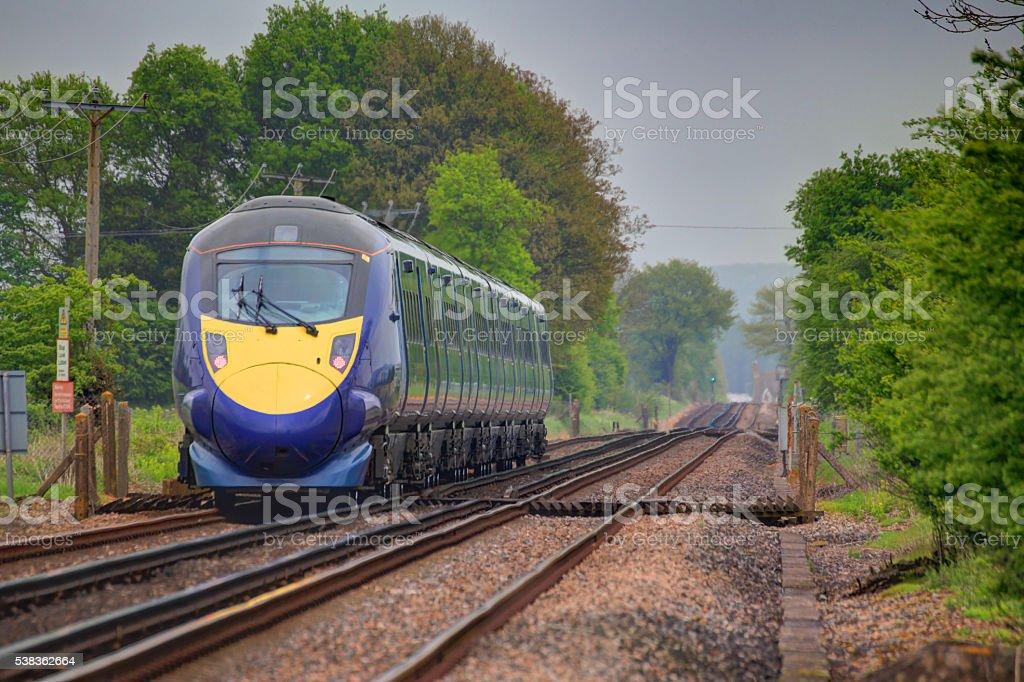 Fast train. stock photo