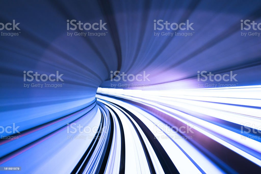 fast train through tunnel royalty-free stock photo