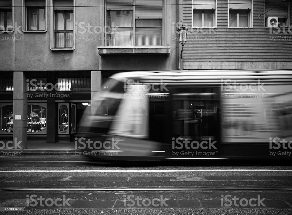 Fast tram stock photo
