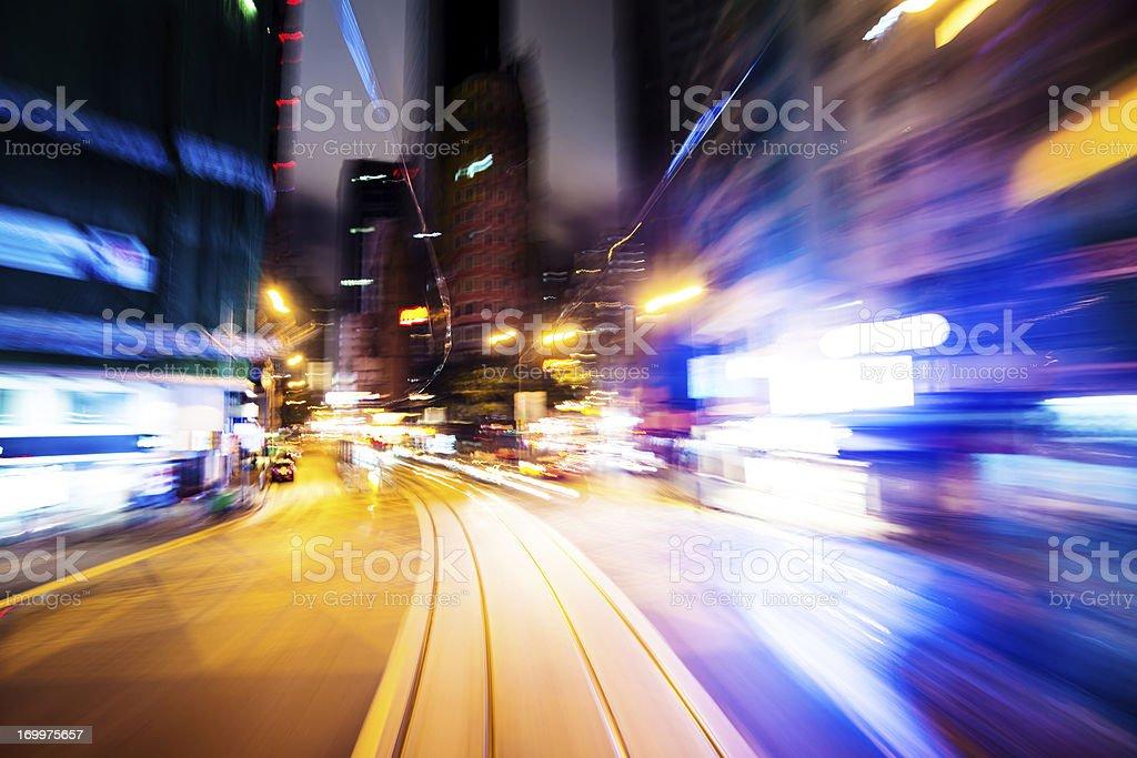 fast trffic through city royalty-free stock photo