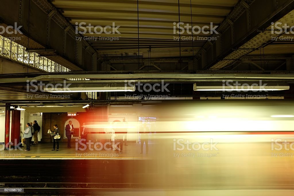 Fast tube leaving the station stock photo