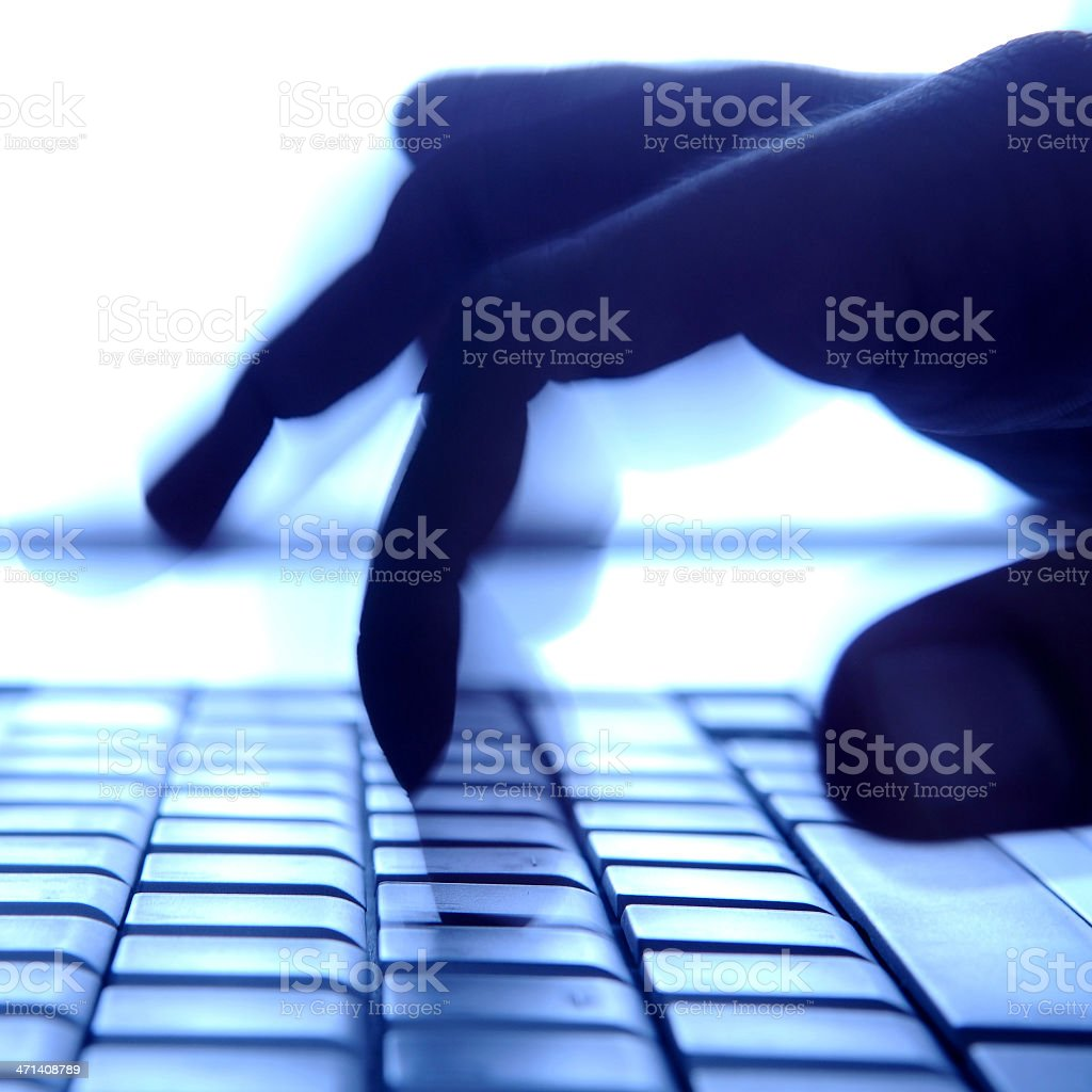 Fast typing royalty-free stock photo