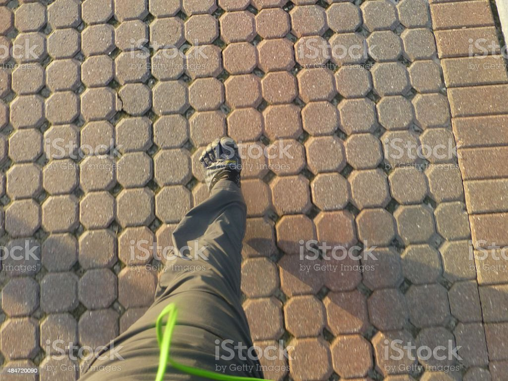 Fast walking stock photo