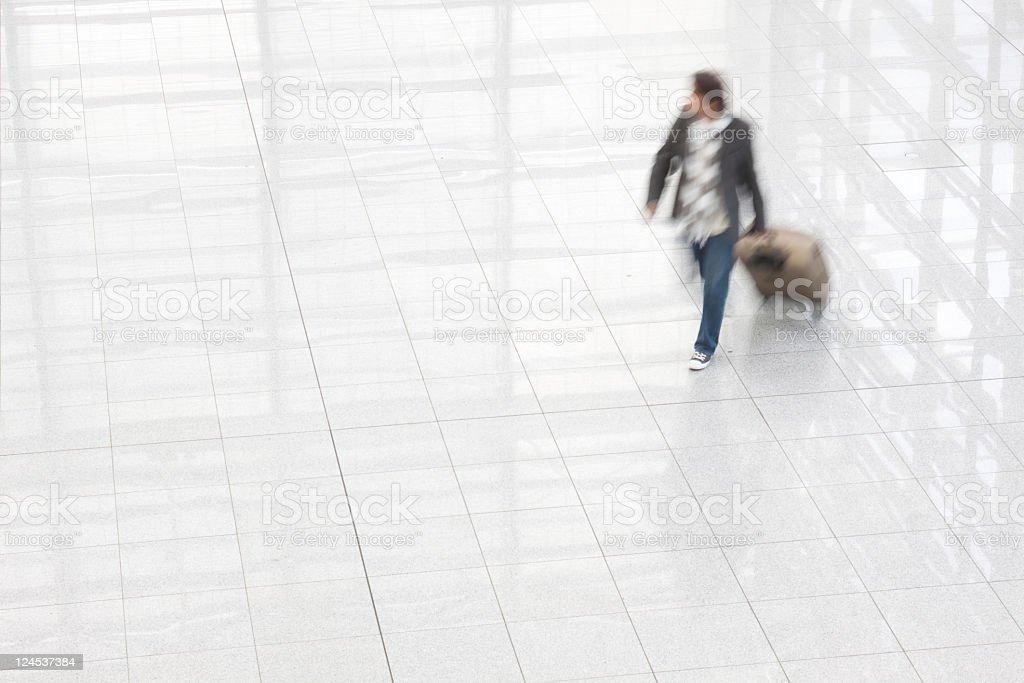 Fast walking traveller royalty-free stock photo