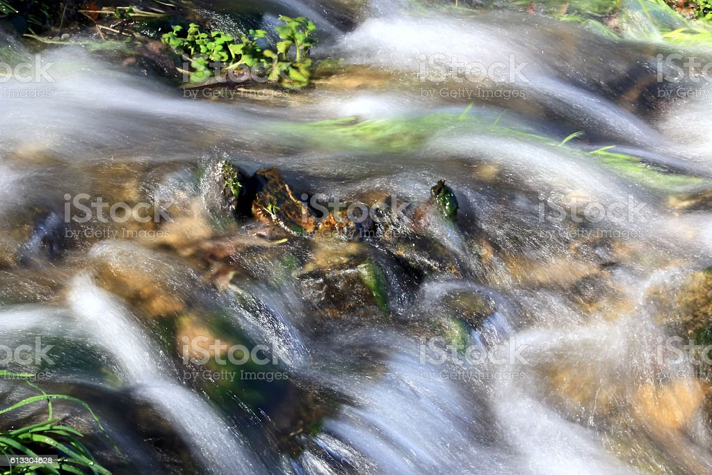 Fast water flow stock photo