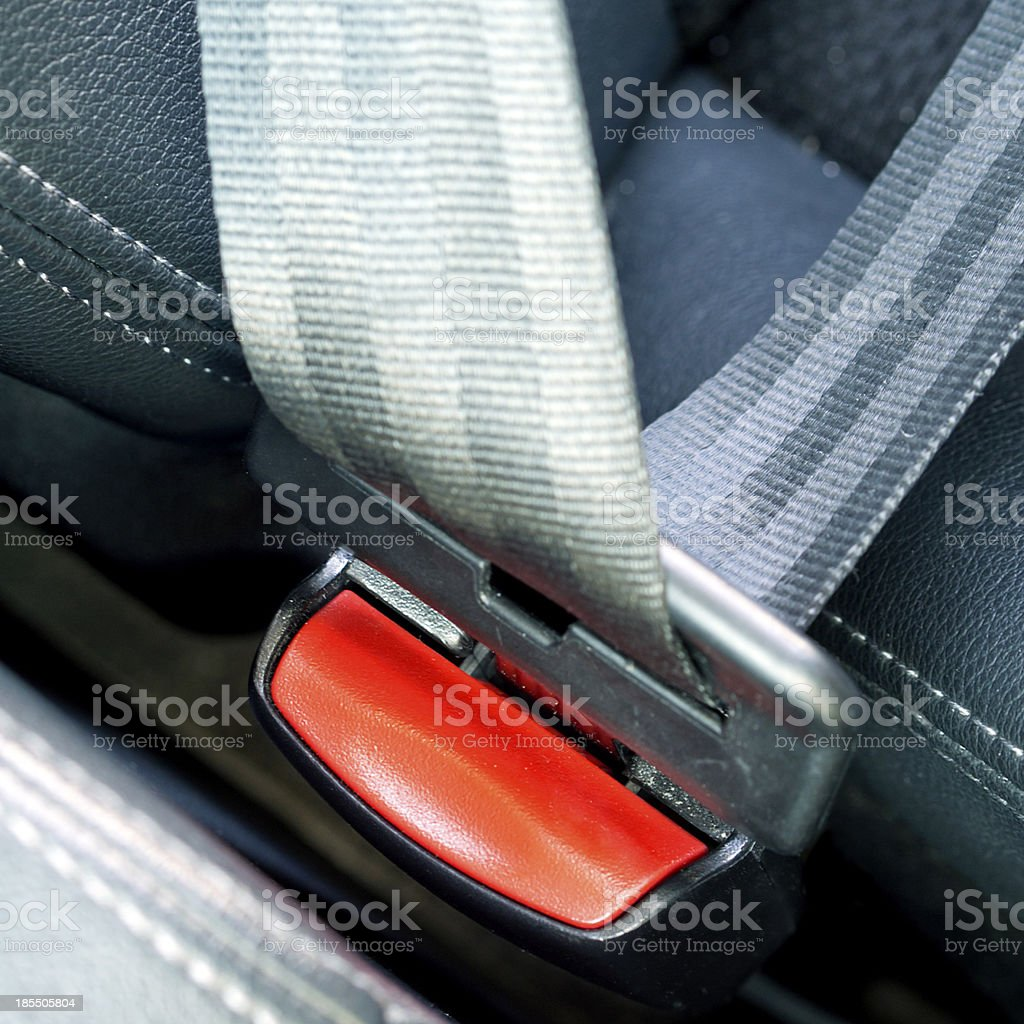 fasten seat belts in the car for  safety royalty-free stock photo