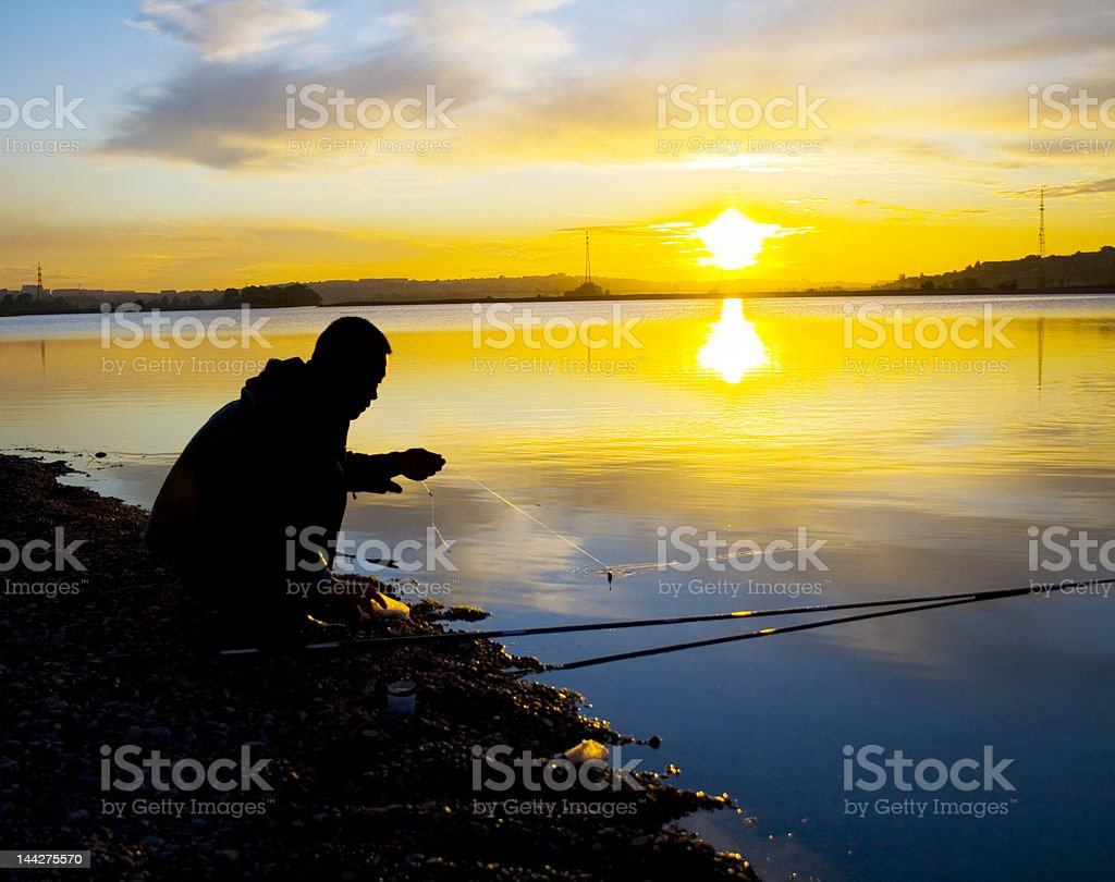 fasten the bait royalty-free stock photo