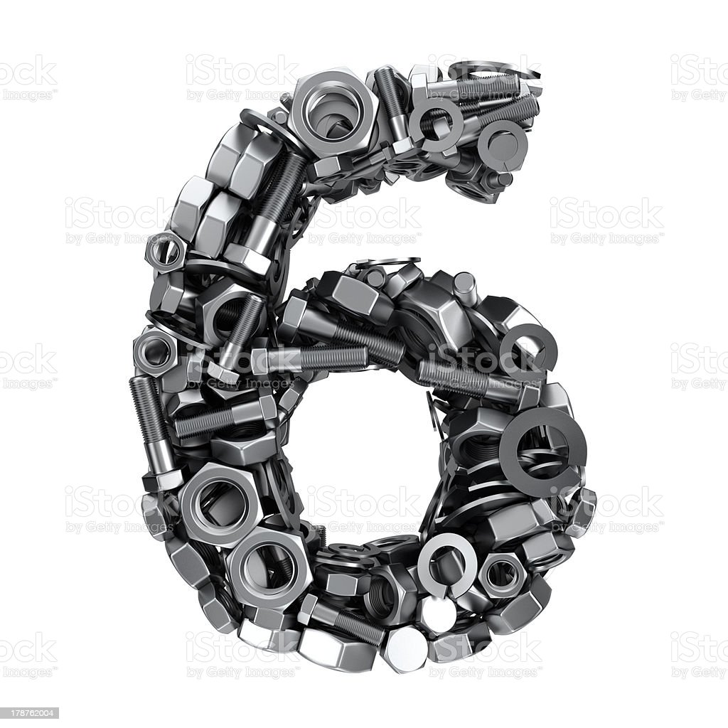 Fasteners 6 royalty-free stock photo