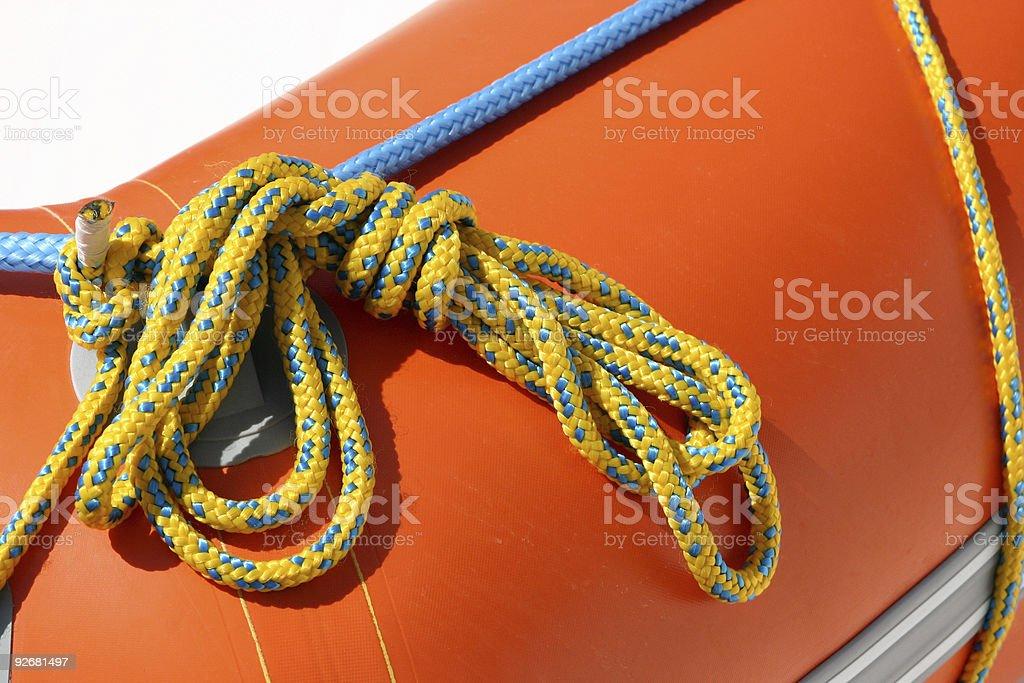 Fastening ropes royalty-free stock photo