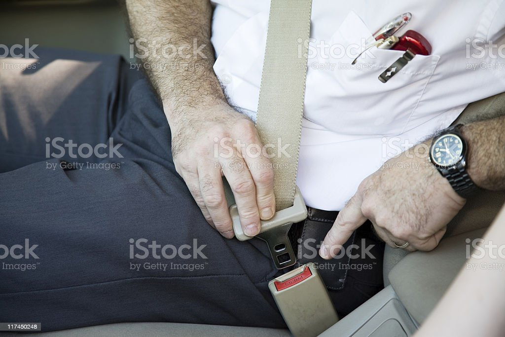 Fastening Seatbelt royalty-free stock photo