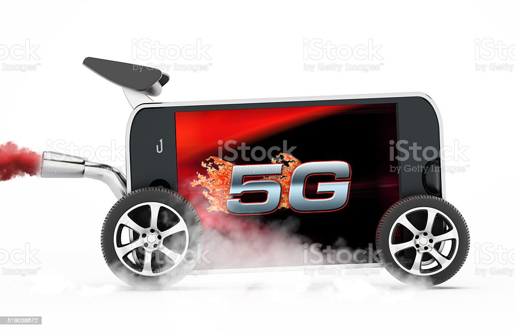 5G - Faster connection concept stock photo