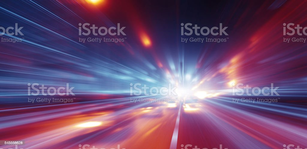 Faster than the speed of light stock photo