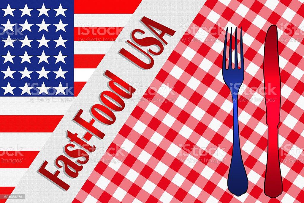 Fast-Food USA stock photo