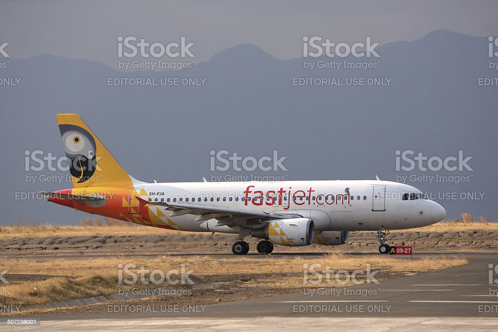 Fastjet Aircraft in Mbeya stock photo