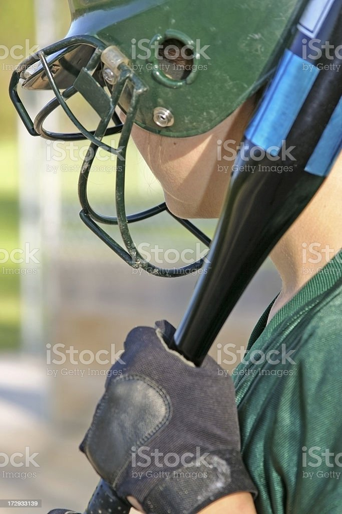 Fastpitch Female Softball Player royalty-free stock photo