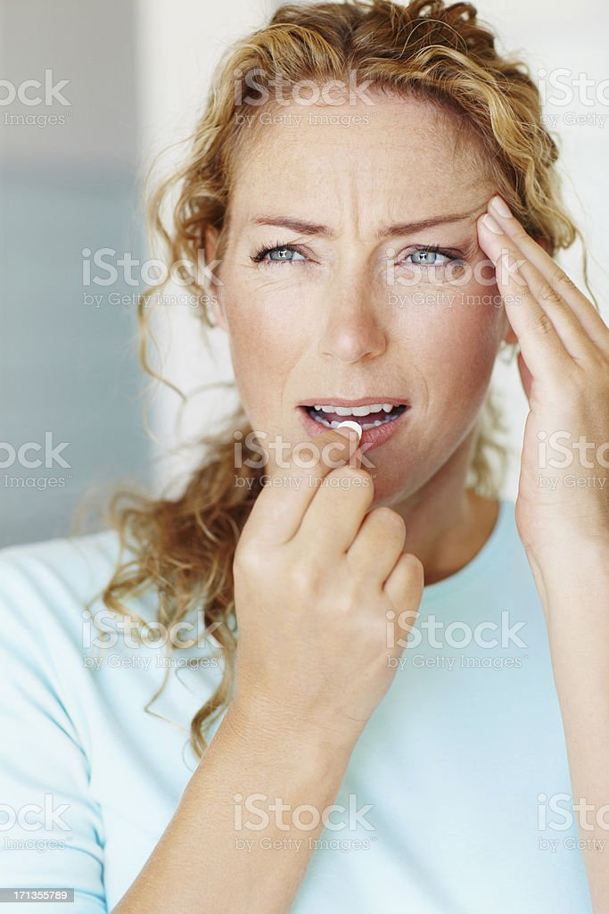 Fast-working relief for pain royalty-free stock photo