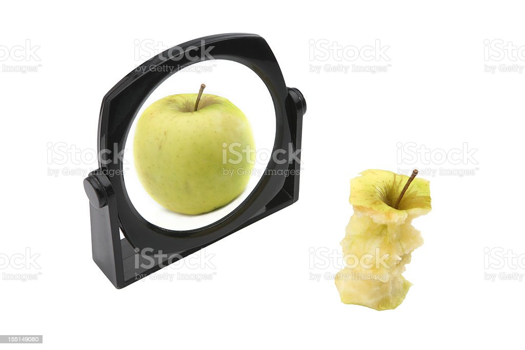 Fat and thin concept royalty-free stock photo