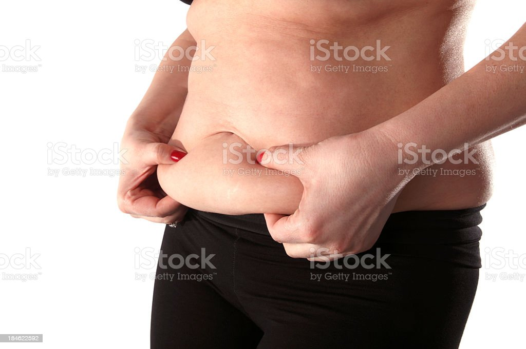 fat belly stock photo
