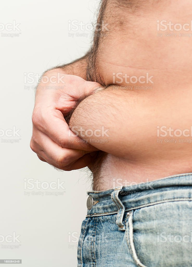 fat belly royalty-free stock photo
