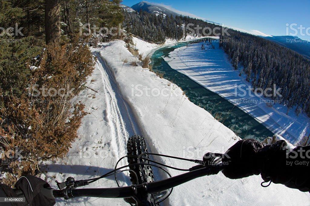 Fat Bike British Columbia stock photo