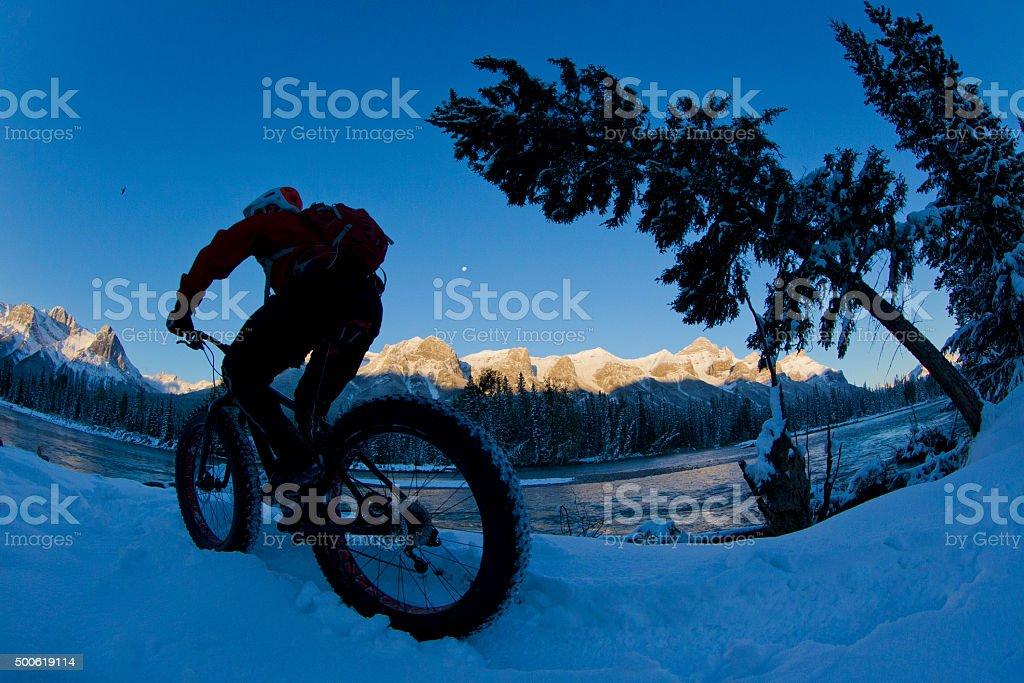 Fat Bike Morning Ride stock photo