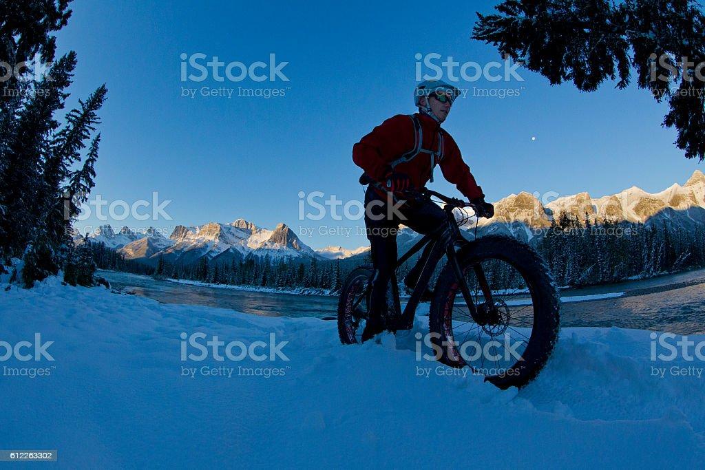Fat Bike Snow Adventure stock photo