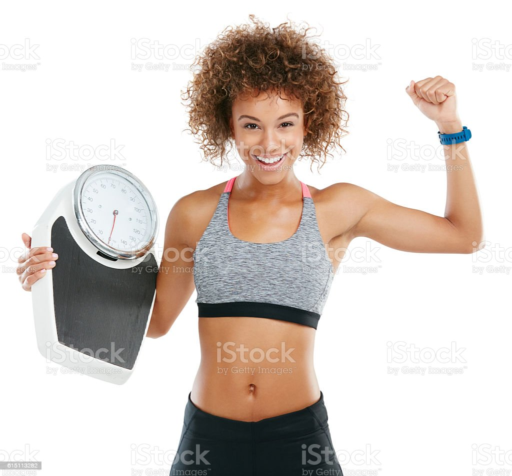 Fat burned is pride earned stock photo