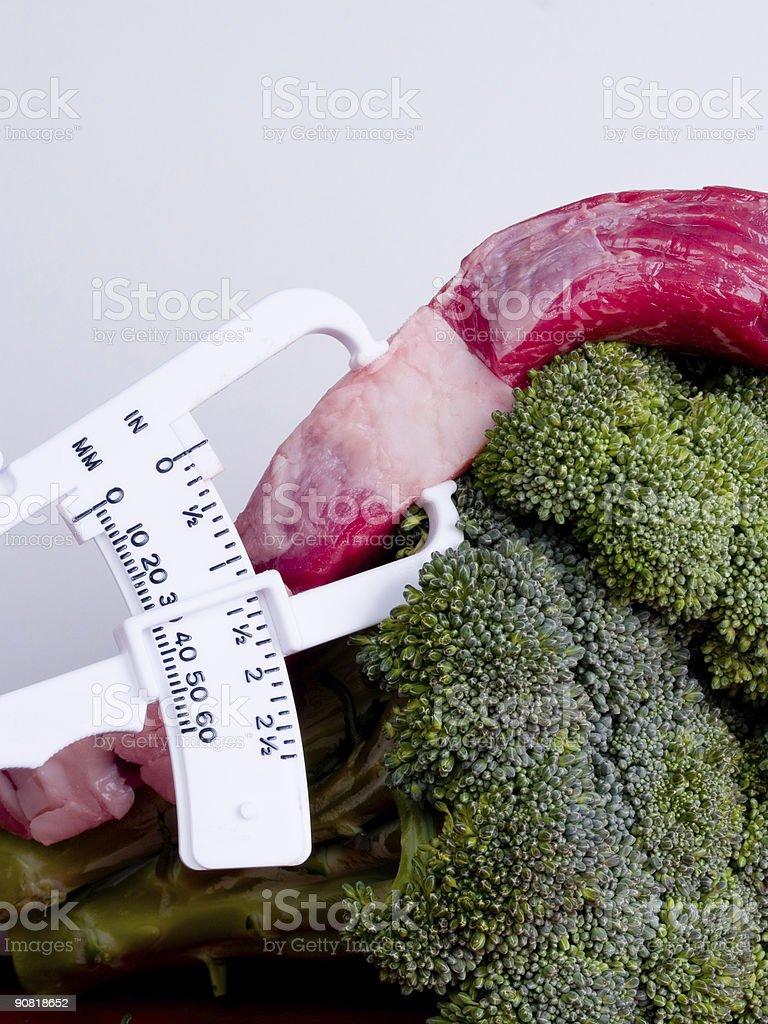 Fat Calipers Healthy Broccoli royalty-free stock photo