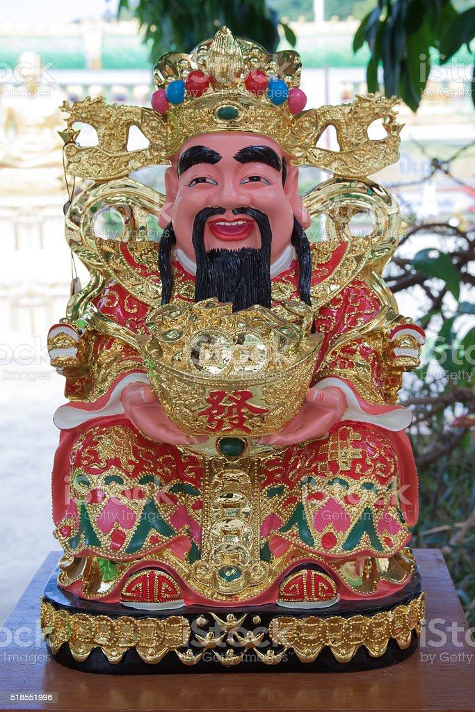 Fat chinese god smile royalty-free stock photo
