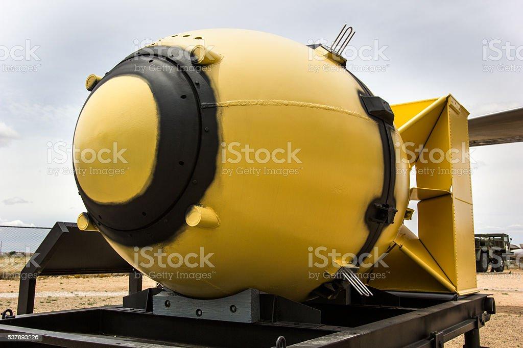 Fat Man Nuclear Bomb stock photo