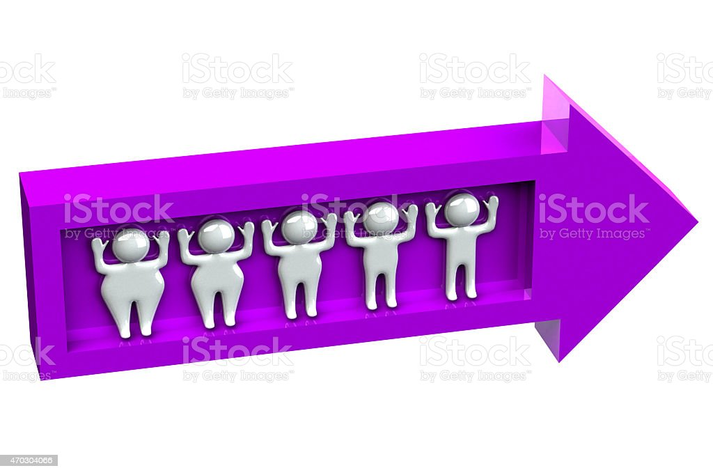 Fat to thin weight loss people stock photo