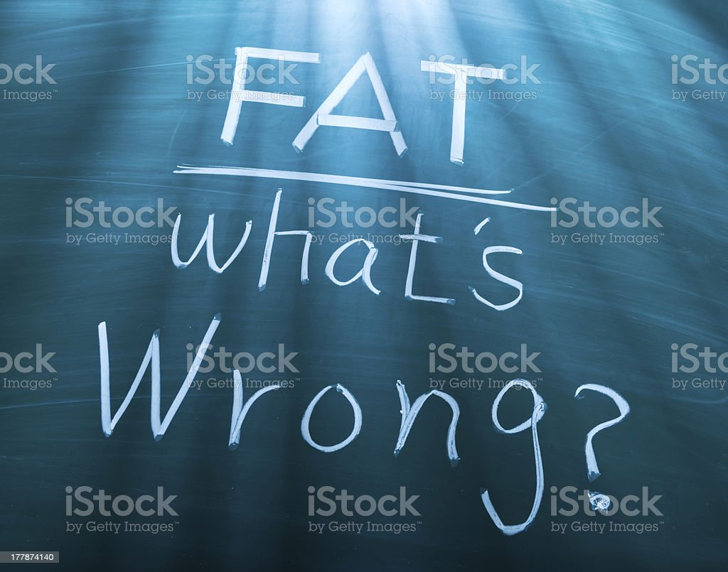 Fat, what is wrong? royalty-free stock photo