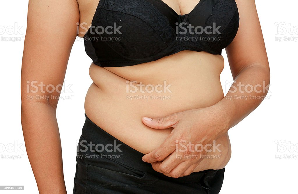 fat woman stock photo