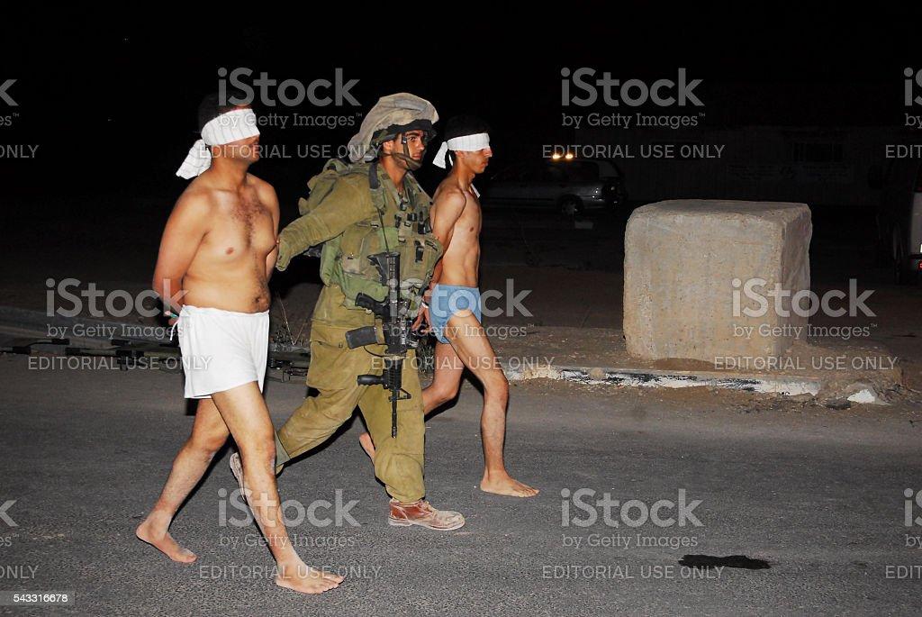 150 Fatah Men Enter Israel After fleeing Gaza Violence stock photo