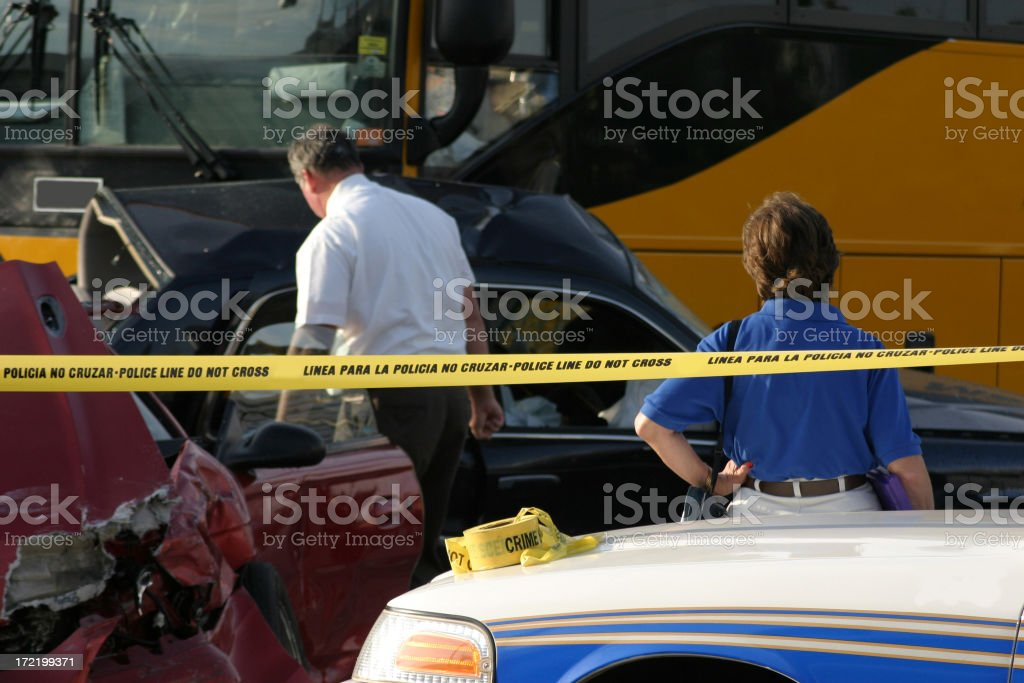 Fatal Car Crash stock photo
