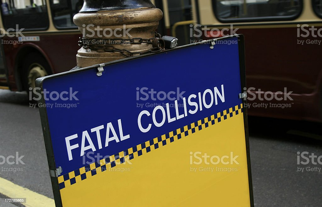 Fatal collision stock photo